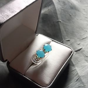 Baby Blue Resin Stud Earrings